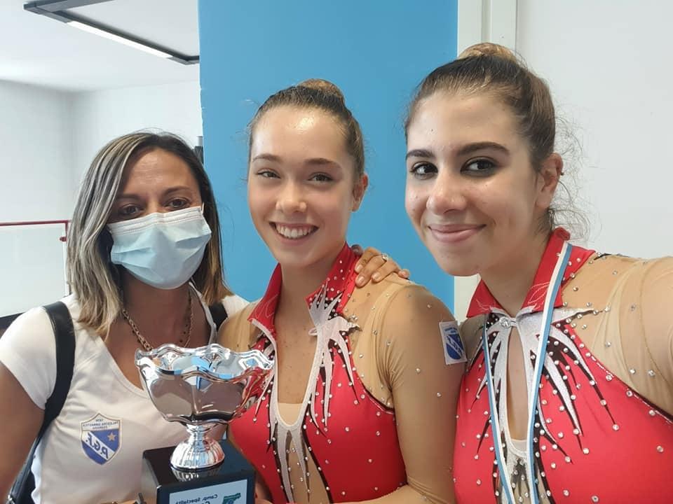 Elena zoboli, Adele Felloni e Sofia Canella con la Coppa di Campionesse Regionali